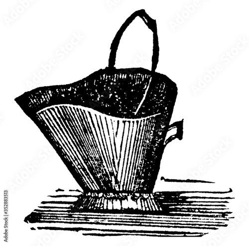Coal-scuttle, vintage illustration. Fototapet