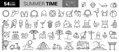 Obraz Travel hand-draw doodle backround. Tourism and summer sketch with travelling elements. Vector illustration - fototapety do salonu