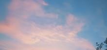 Pink, Clouds, Blue, Photos ,Sky ,Color