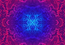 Vintage Hypnotic Shamanic Psychedelic Acid Pattern. Vector Hand Drawn Design Style.
