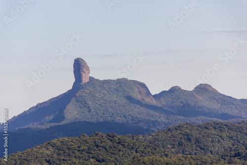 Peak of the friar of Angra dos Reis, seen from the city of Bananau in the Serra da Bocaina in Sao Paulo Canvas Print