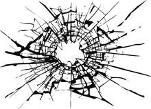 Broken Glass, Cracks, Bullet M...