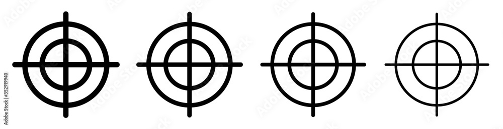 Fototapeta Target set icons set. Focus target collection.Aim icons design isolated.Set of different sniper symbol isolated.Vector.EPS 10
