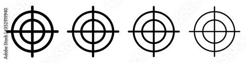 Fotomural Target set icons set