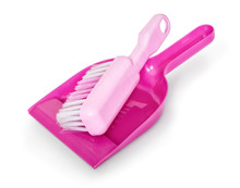 Dustpan And Hand Brush Isolate...