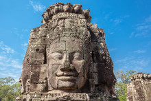 The Faces Of The Bayon Temple,...