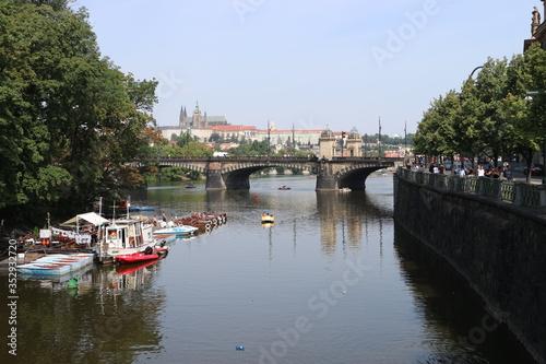 Fototapeta ponte sulla moldava praga