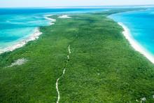 Aerial View Of Vamizi Island S...