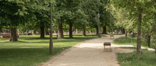 A Path With Benches Outdoors I...