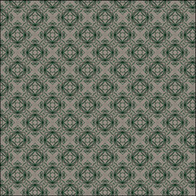 Seamless Green Pattern With Floral Elements