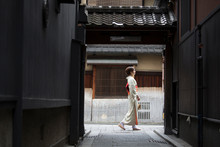 Young Japanese Woman In Kimono...