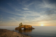 Hollow Rock On The Lake Superior North Shore In Grand Marais Minnesota. United States Of America