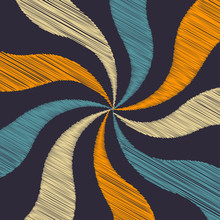 An Abstract Retro Colored Swirl Background Image.