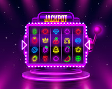 Jackpot Slots Neon Icons, Casi...