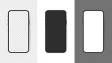 Set Realistic Smartphone Blank...
