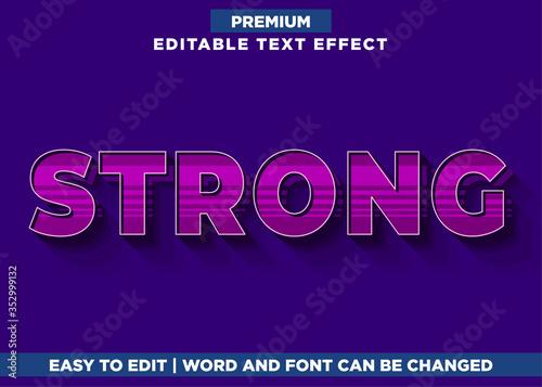 Fototapeta Retro - 3d Illustrator Text Effect font Style obraz na płótnie