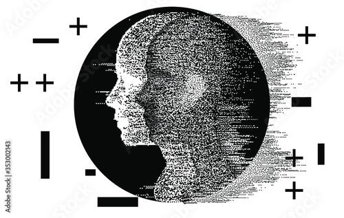 Cuadros en Lienzo Alter ego concept, alternative self