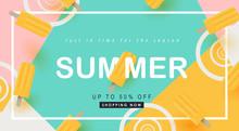 Summer Sale Design With Pretty...