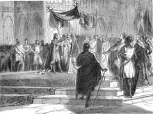 Marriage Of Louis The Younger With Eleanor Of Aquitaine, Vintage Illustration.