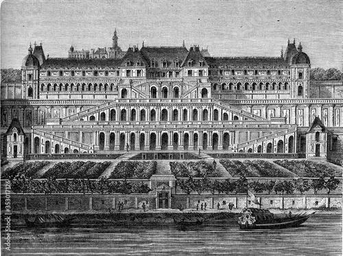 Fotografía Former castle of Saint-Germain, vintage illustration.