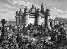 Pierrefonds Castle, Vintage Il...