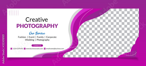 Fototapeta Premium Vector - Modern Abstract Photography Facebook Cover Banner Template