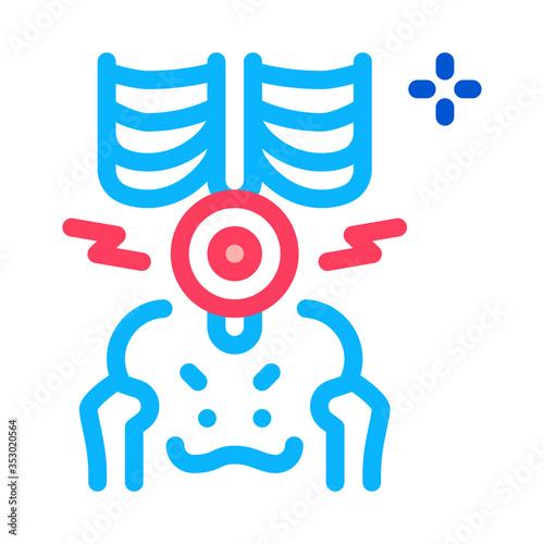 Cuadros en Lienzo back lumbar arthritis icon vector