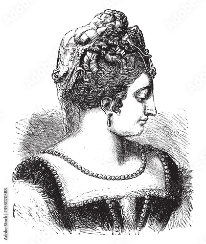 Fotomural Diana of Poitiers, vintage illustration.