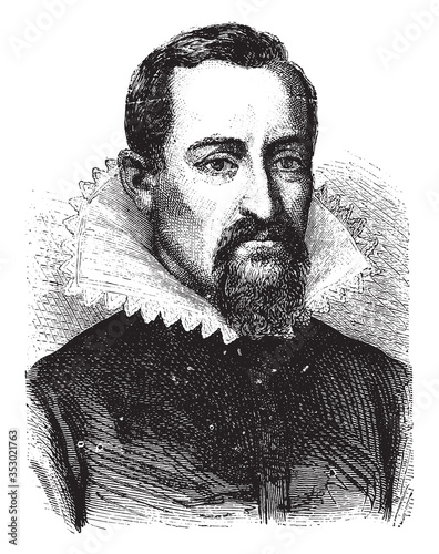 Photo Johannes Kepler, vintage illustration.