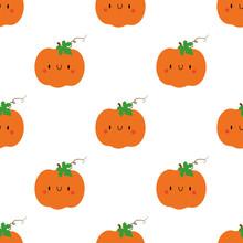 Kawaii Cartoon Pumpkin