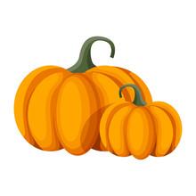 Vector Orange Pumpkin. Isolate...