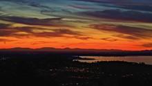Sunset Orange Over Folsom Lake