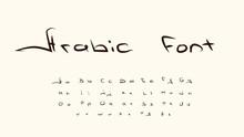 Arabic Font, English Alphabet ...
