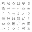Modern thin line icons set of electronics.