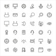Vector line icons collection of marketing