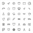 Big set of school line icons.