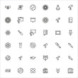 Simple set of university modern thin line icons.