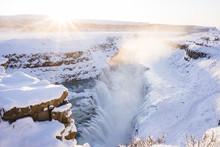 Glugafoss Wasserfall In Island...