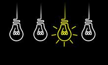 Set Of Hanging Light Bulbs Fro...