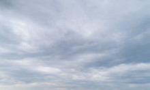 Cloudy Gray Sky With Thick Dense Clouds.