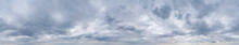 Large Panorama Of Cloudy Gray ...