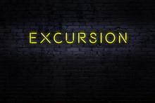 Neon Sign. Word Excursion Agai...