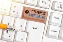 Word Writing Text Anti Money Laundering. Business Photo Showcasing Regulations Stop Generating Income Through Illegal Actions