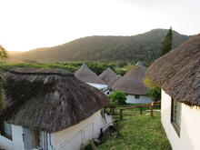 Traditional South African Houses At Wild Coast Mpande In Transkei