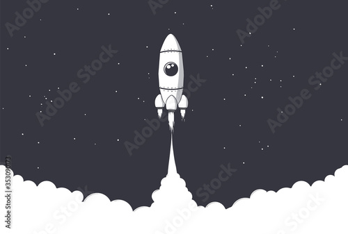 Fényképezés rocket is flies to space