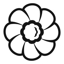Flower Biscuit Icon. Simple Il...