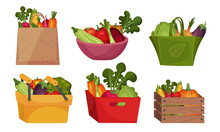 Fresh Vegetables In Paper Bag ...