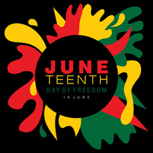 Juneteenth Simple Typography O...