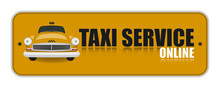 Yellow Taxi Service Online Icon.