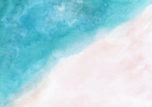 Pastel Blue Pink Abstract Wate...
